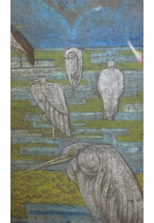 Projet de papier-peint à motif de canards, vers 1910-1920
