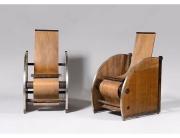 Paire de fauteuils modernistes vers 1927